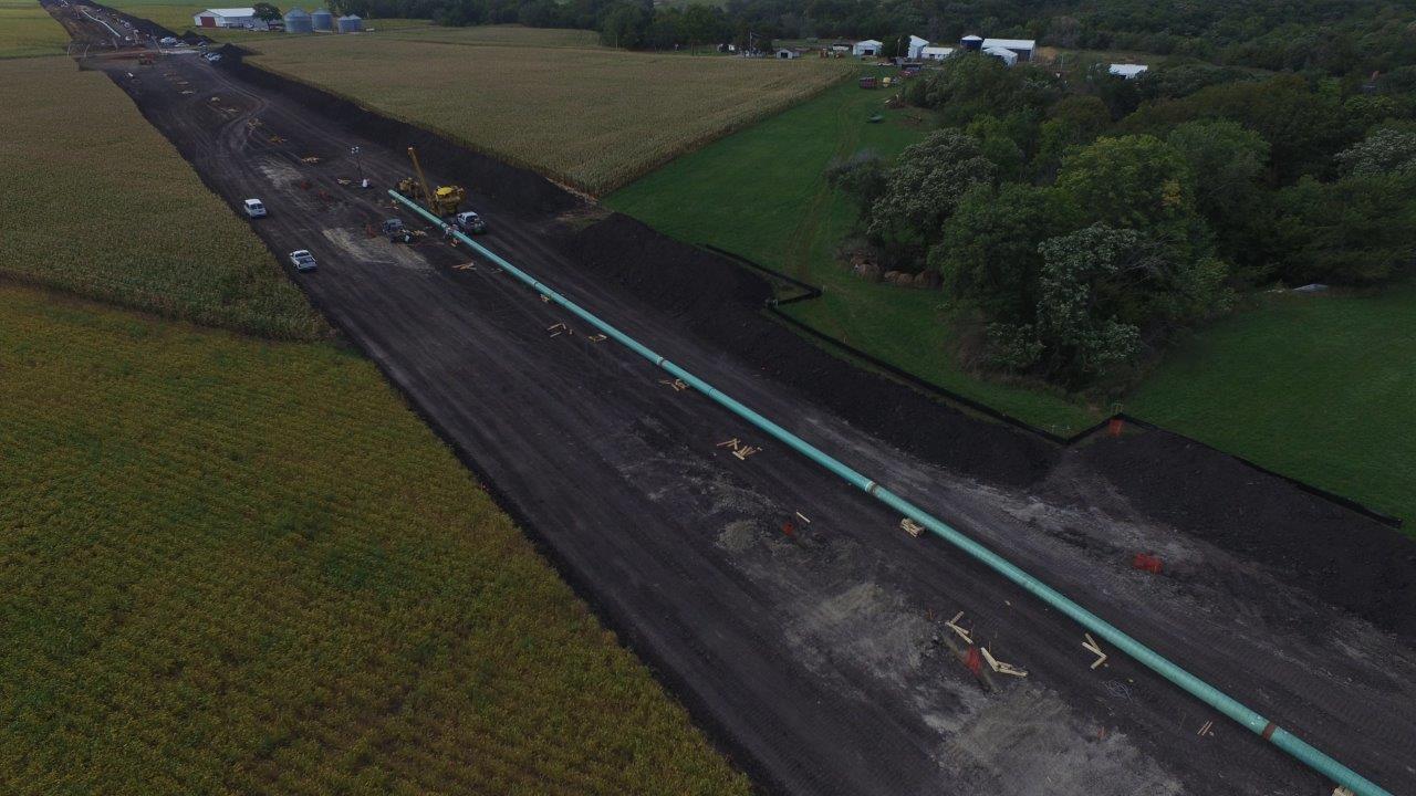 Pipeline destruction underway in Boone, County Iowa